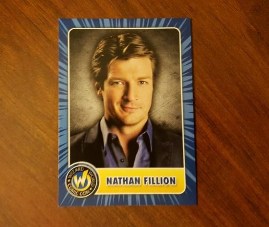 Nathan Fillion Trading Card!