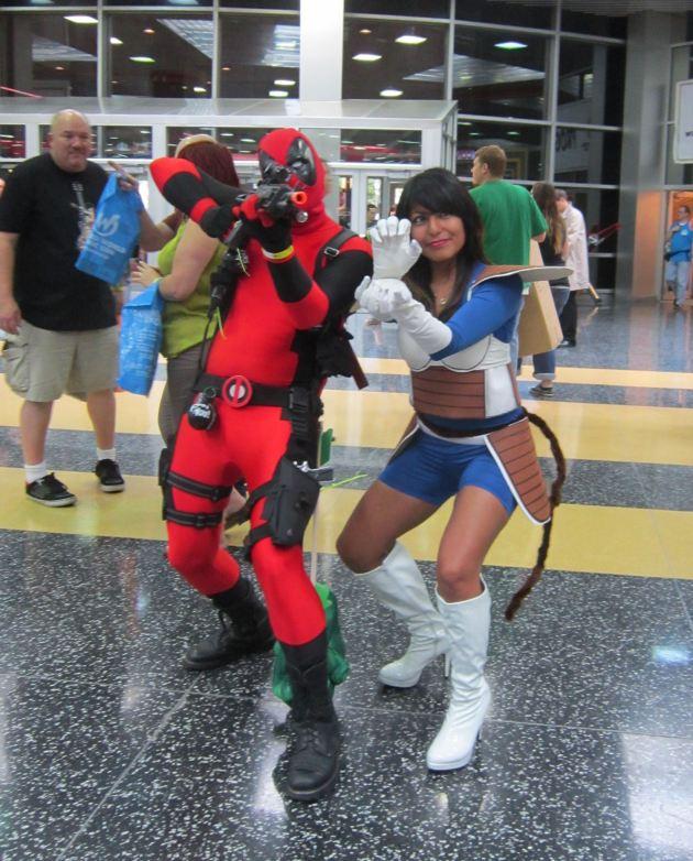 Deadpool and Vegeta!