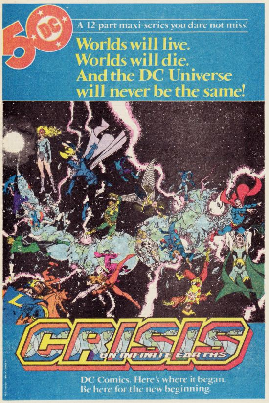 Crisis on Infinite Earths ad!