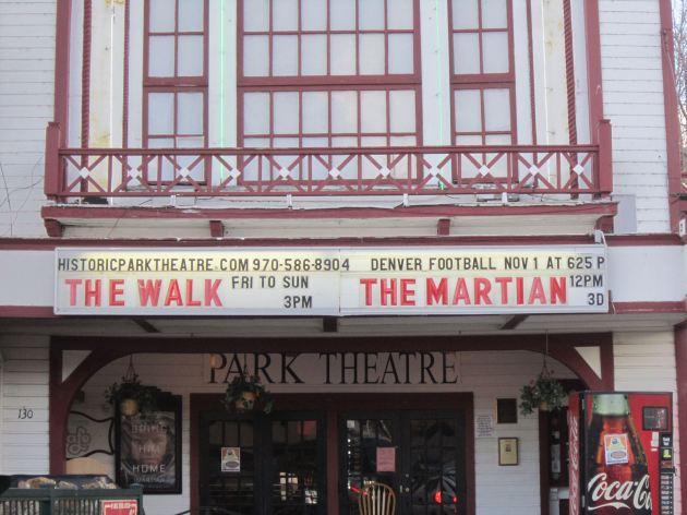 Historic Park Theatre Marquee!