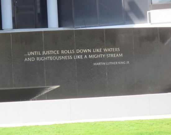 MLK Quote Fountain.