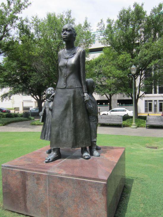 Mother sculpture.