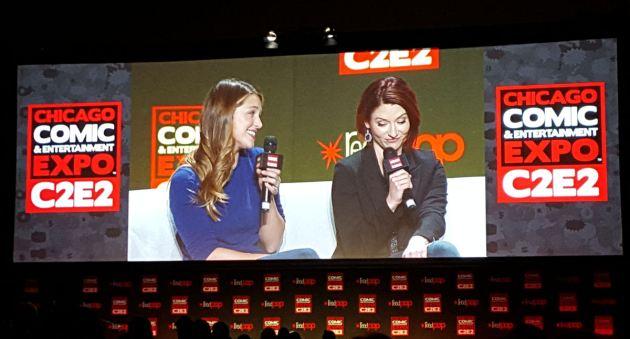 Melissa Benoist and Chyler Leigh!