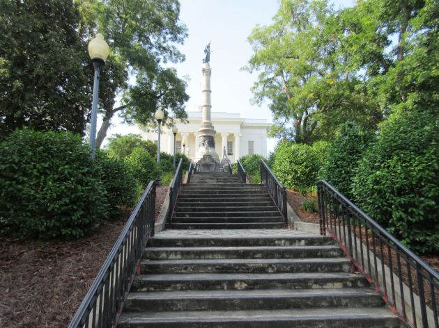 Confederacy Statue Stairs!