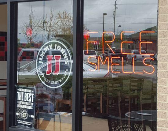 Jimmy John's Free Smells!