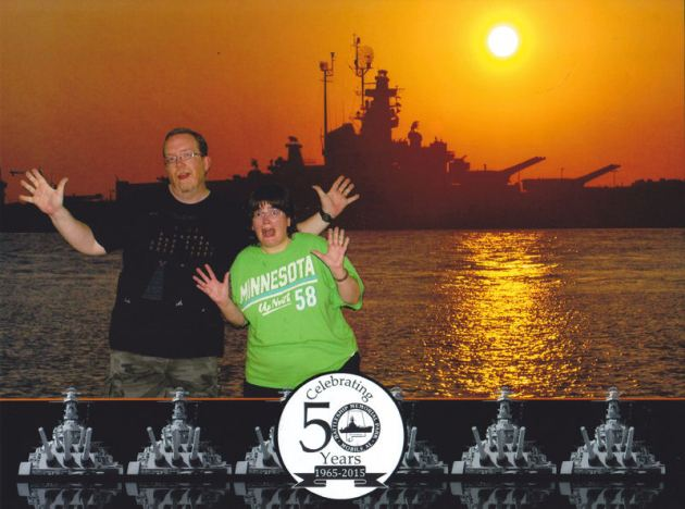 Us and USS Alabama!