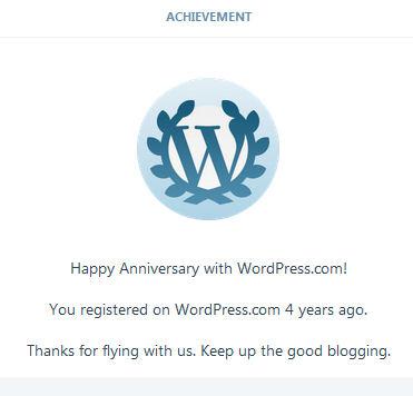 WordPress 4 Years!