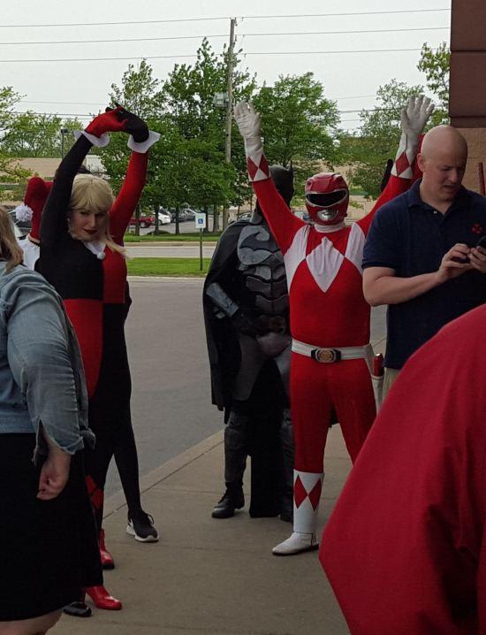 Harley & Red Power Ranger!