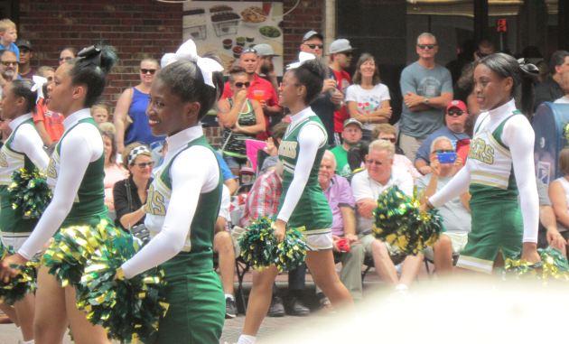 Crispus Attucks High School Cheerleading Team!