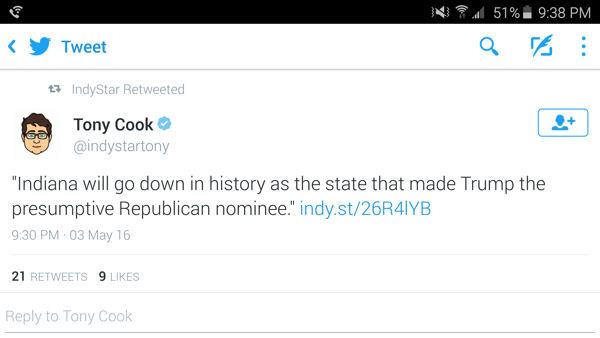 Presumptive Republican Nominee!