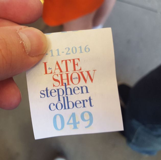 Late Show Tickets!
