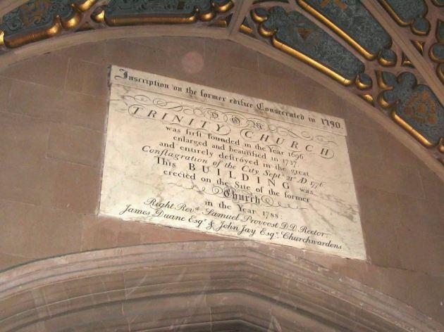 Trinity Church Plaque!