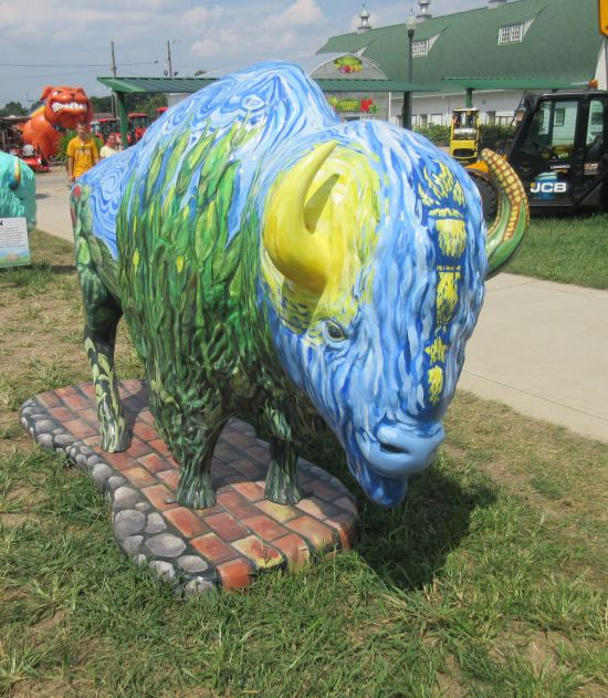 Starry Night Bison!