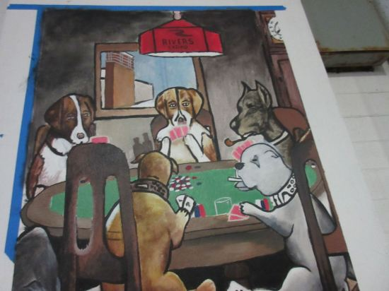 Dogs Playing Rosemont Poker!