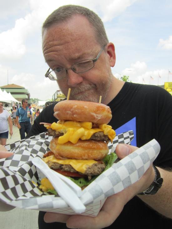 Double Barrel Burger!