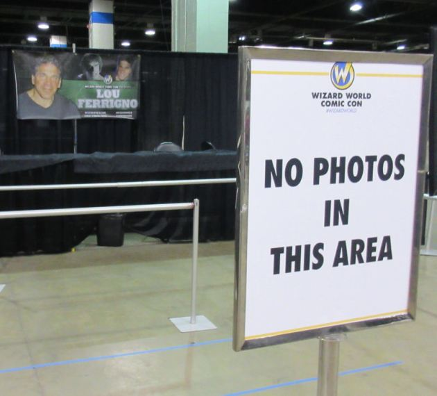 Lou Ferrigno NO PHOTOS.