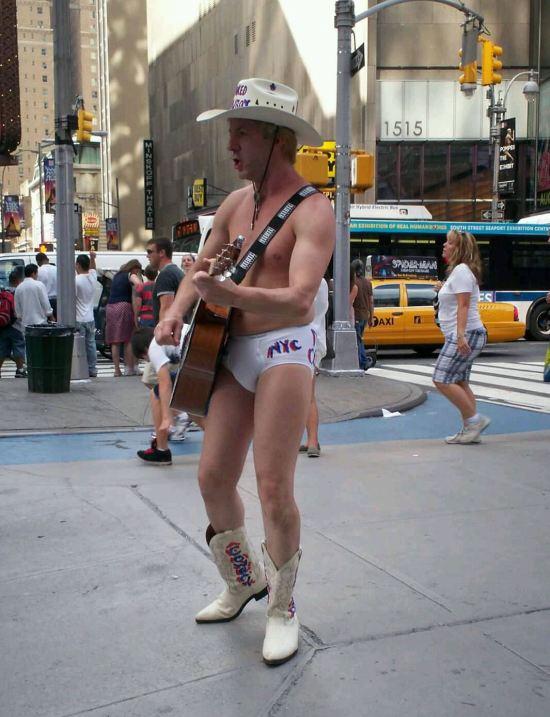 Naked Cowboy!