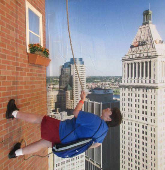 Anne Bat-climbing!