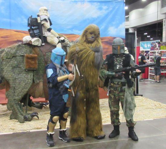 Chewbacca and Mandalorians!