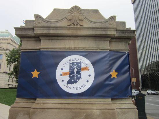 Indiana bicentennial blue banner!