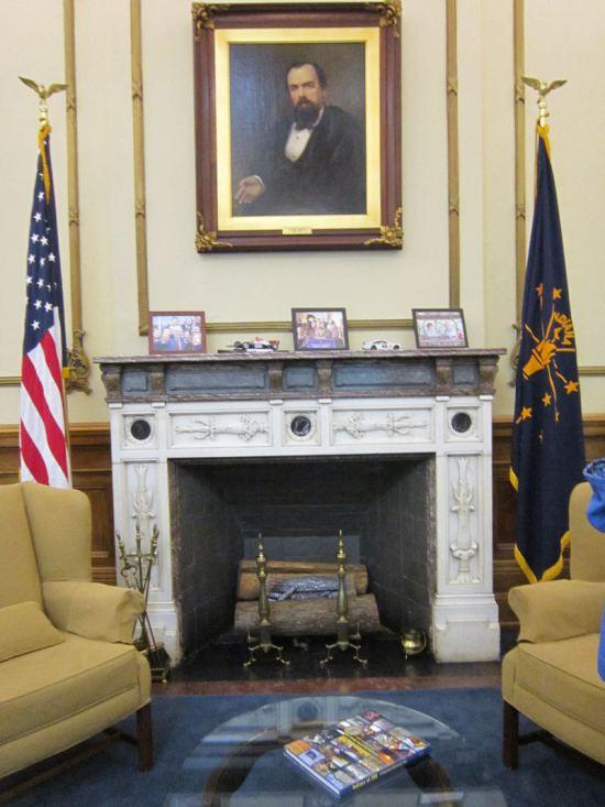 Governor's fireplace!