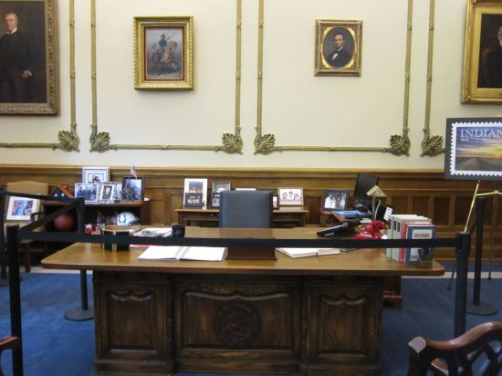 Indiana governor's desk!