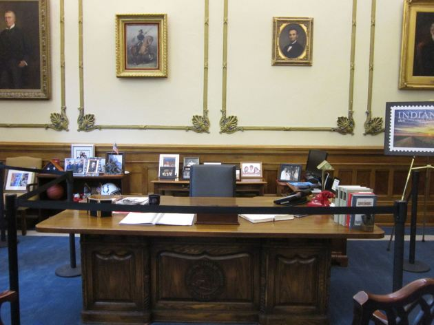 Indiana governor's desk!