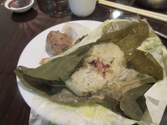Sausage sticky rice!
