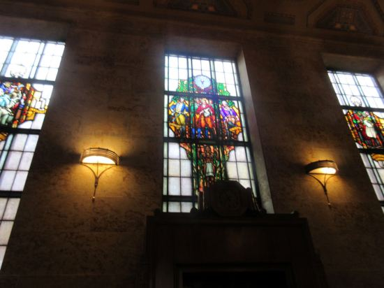 Indiana State Library stained glass!