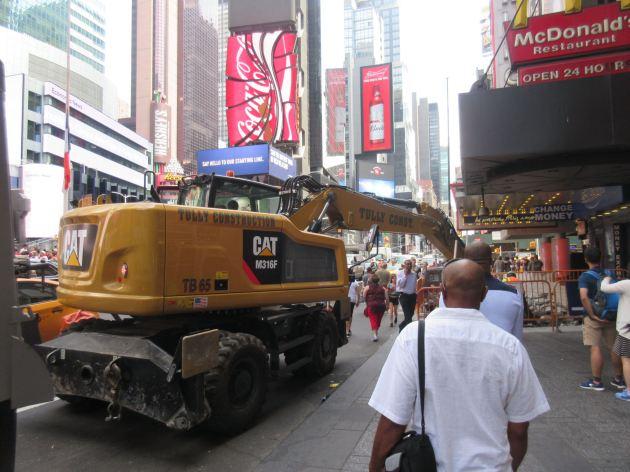 Times Square crane!