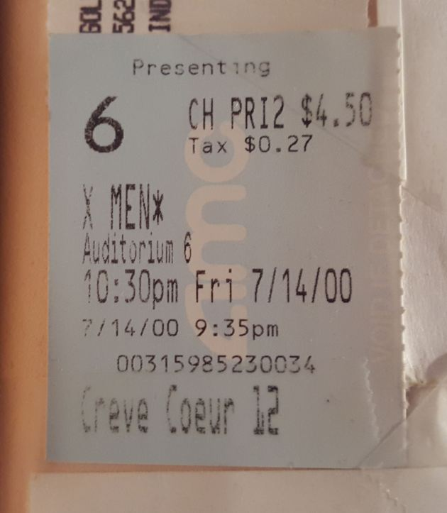 X-Men ticket!