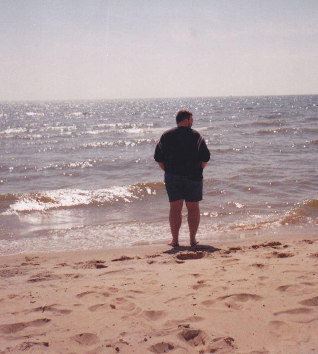 Me on beach.