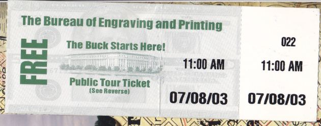 Bureau of Printing and Engraving.
