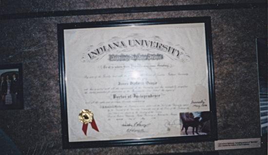 Quayle's diploma!