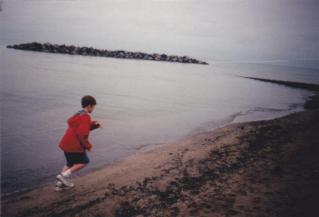 Boy running!