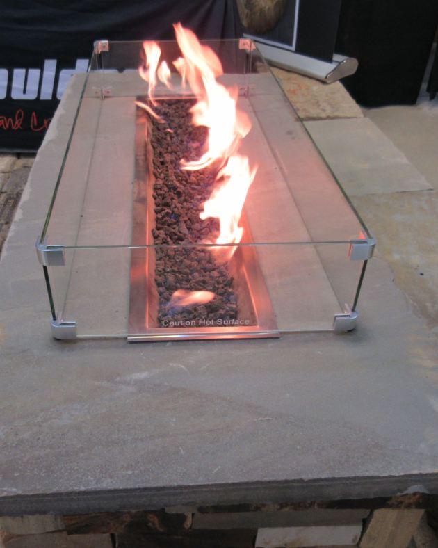 concrete bench fire!