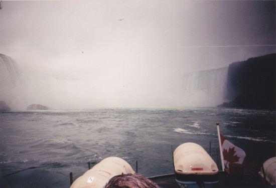 Horseshoe Falls + Canada Flag!