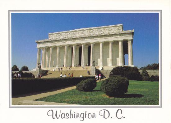 Lincoln Memorial postcard!