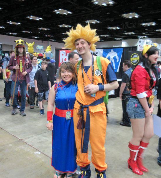 Goku and Chi-Chi!