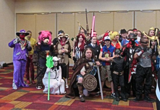 Indiana Comic Con cosplay group photo!