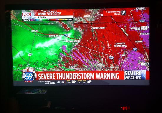 Severe Thunderstorm Warning!