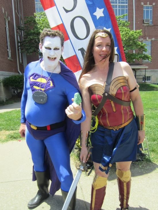 Bizarro and Wonder Woman!