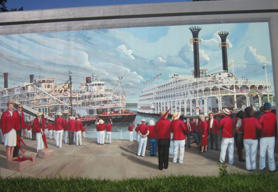 Steamboats + Red Coats!