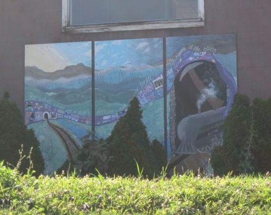 river mural!