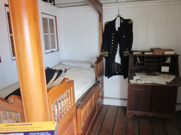 Captain's stateroom!