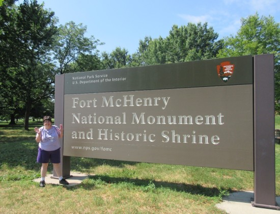 Fort McHenry sign!