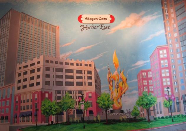 Haagen-Dazs mural!