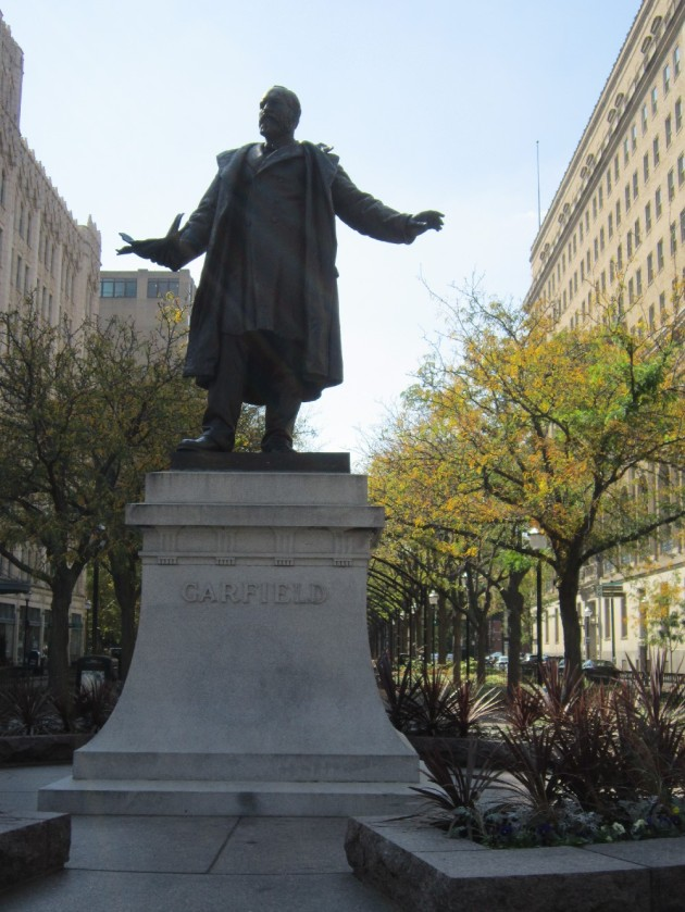 James Garfield statue!