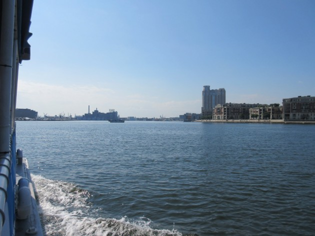 Water Taxi view!