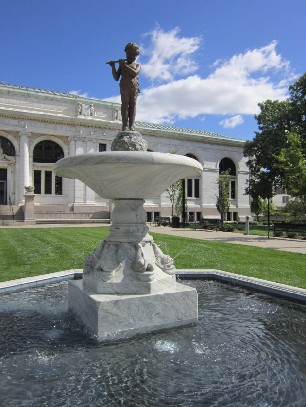 Library fountain!